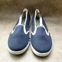 Lands End Womens  361804 Sz 11 M Blue Slip On Loafer Comfort Flats - $29.99