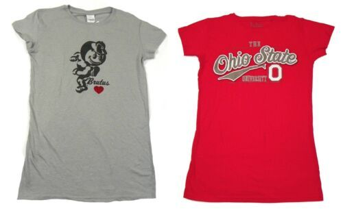 Junior Women's Ohio State Buckeyes Shirt Short Sleeve Tee T-Shirt Licensed NEW