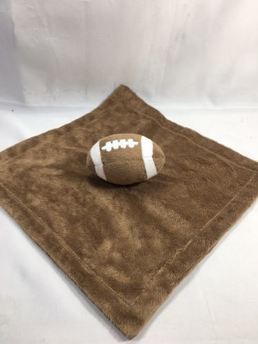 Koala Baby Brown Football Security Blanket Lovey NuNu - $19.97
