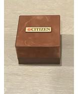 Vintage Empty Men's Citizen Quartz Wrist Watch Box Felt Brown Box 1970s - $33.00