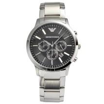 Emporio Armani AR2460 Men's Sportivo Black Dial Stainless Steel Chrono Watch - $130.21
