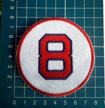 "Carl Yastrzemski Retired Number 8 Boston Red Sox MLB Baseball 3"" Patch e... - $9.99"