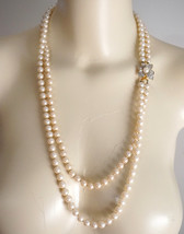 NWOT Vintage CAROLEE Faux Pearl Double 2 Strand Necklace - $60.00