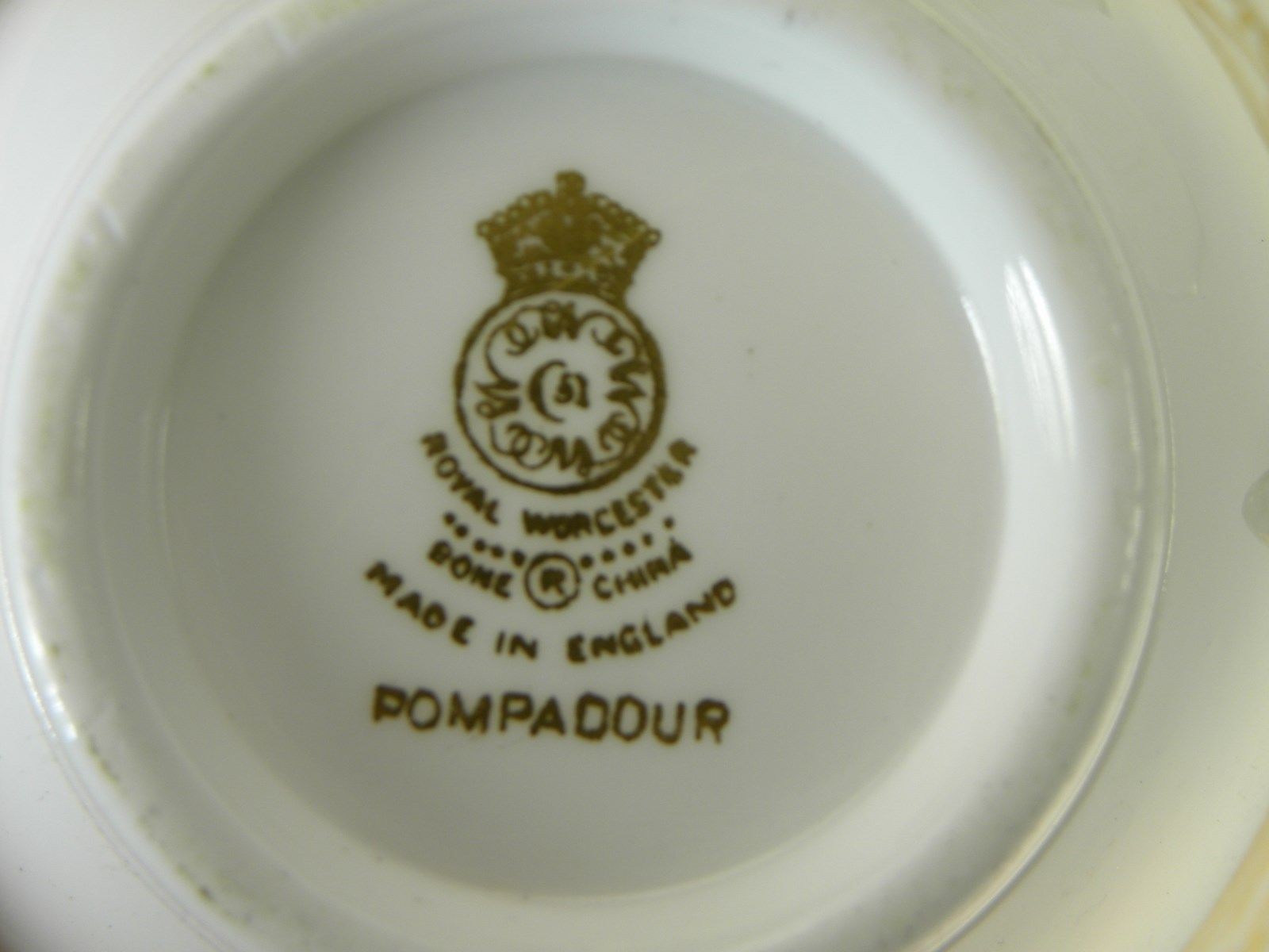 Royal Worcester Pompadour 6 Cups & 5 Saucers