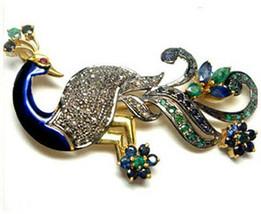 Victorian 1.21ct Rose Cut Diamond Gemstones Wedding Brooch Vintage VTJ EHS - $756.42