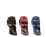 Dragon Rider GP-Pro Cowhide Leather Motorcycle Gloves Blue - Red - Black M L XL