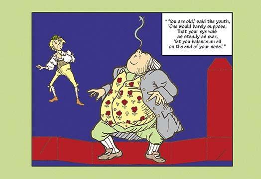 Alice in Wonderland: Father William Balances an Eel - Cutout by John Tenniel - A - $19.99 - $179.99