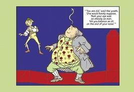 Alice in Wonderland: Father William Balances an Eel - Cutout by John Ten... - $19.99+