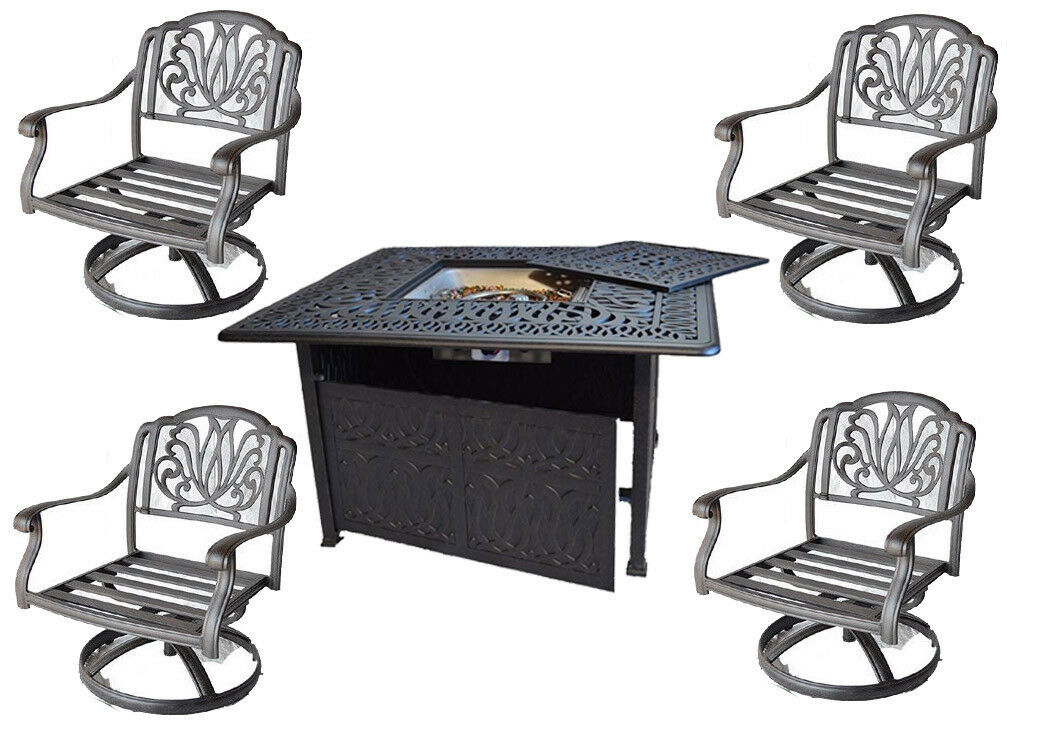 Outdoor Conversation Set Fire Pit Propane Deep Seating