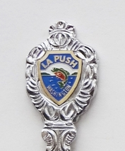 Collector Souvenir Spoon USA Washington La Push Fish Emblem Clam Bowl - $6.99