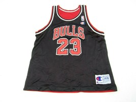 Vintage Champion Chicago Bulls Reversible Michael Jordan Jersey Youth L ... - $49.45