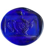 Colette Glass Designs Teacup Window Suncatcher Lead Crystal Ornament Cobalt Blue - €21,06 EUR
