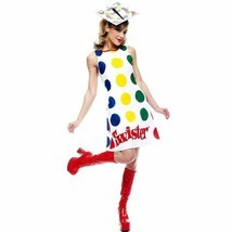 TWISTER GAME w/ SPINNER HAT ADULT COMICAL HALLOWEEN COSTUME SIZE MEDIUM ... - $27.69