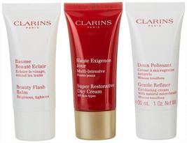 Clarins Womens Restorative  Anti-aging 3-pc. Set Gentle Refiner Super Restorativ - $55.00