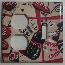 Coke Coca Cola bottles wallpaper Light Switch Outlet wall Cover Plate Home decor image 5