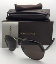 Nuevo Giorgio Armani Gafas de Sol Ar 6030 3122/73 Metalizado Aviador con... - $250.71