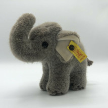 "Steiff 1451/12  Jumbo Elephant Gray Vintage Stuffed Plush 6"" Germany Toy... - $32.00"