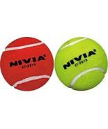 Nivia Balls 12 Cricket Tennis Balls Red / Yellow Heavy Cricket Tennis Balls - $54.31