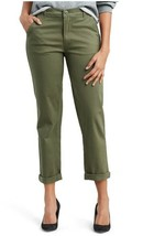 $59.50 Levi Classic Chinos Olive Green Cuffed Crop Pants Crisp Kalamata New - $26.97