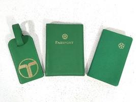 Trina Turk Lime Green Travel Set Passport Diary Luggage Tag - $89.09