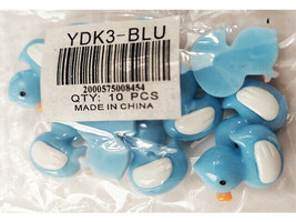 Blue Acrylic Flatback Birds, 10 Pieces image 2