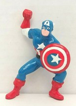 "Marvel Captain America 3"" PVC Figure Cake Topper 1990 Applause Used - $16.83"