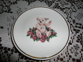 Steiff Pink Teddy Bear Collectible Miniature Porcelain Plate Germany 1994  - $138.85