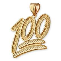Gold 100 Emoji Sparkle-cut Pendant - $499.99+