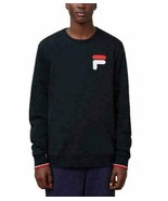 FILA Men's French Terry Crew Neck Sweatshirt, Black, XL - $24.74