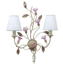 Montaltolamp MARCIANA Hand Painted 2 Light Wall Sconce 100% Handmade in ... - €1.295,42 EUR