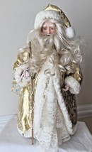 """Father Christmas Tree Topper Gold Brocade 15"""" Ht - $42.08"""