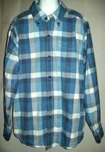 Children's Place Boys Shirt Size L 10 12 Blue Plaid Check Shirt Casual Spring - $17.81