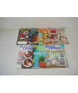 Lot of 7 Better Homes And Gardens Magazines 2015 to 2018 - $13.81