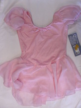 Capezio 8958C Girl's Size Large (12-14) Pink Petal Short Sleeve Dress - $9.99