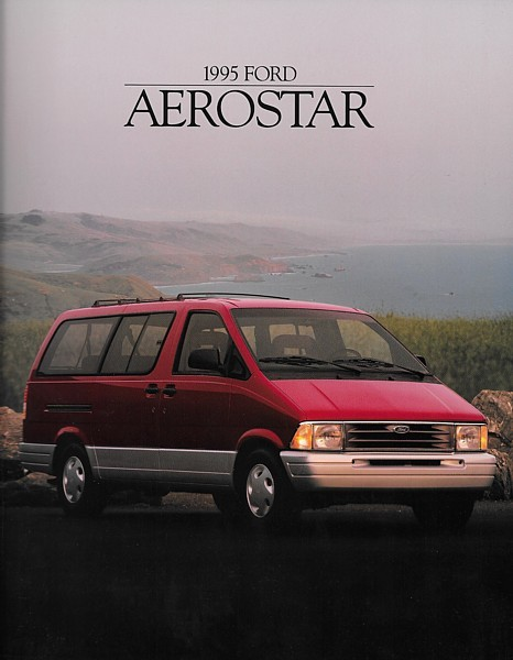 Primary image for 1995 Ford AEROSTAR sales brochure catalog 95 US XLT Extended