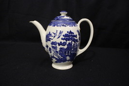 """RARE Johnson Bro. Earthenware WILLOW BLUE 5-Cup 8"""" Coffee Pot w/Lid, Eng... - $149.99"""