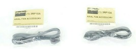 LOT OF 2 NEW DAYTON 3RP10A AXIAL FAN ACCESSORY CORD SETS 24 IN LENGTH 90 DEGREE