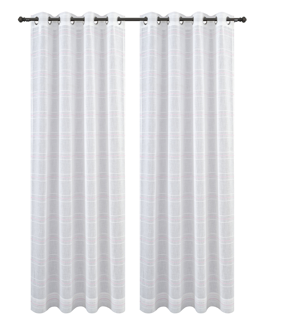 Urbanest Chamon Set of 2 Sheer Curtain Drapery Panels with Grommets image 5