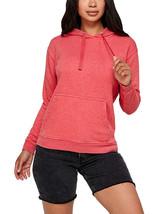 Women's Soft Lightweight Pull Over Sweatshirt Casual Drawstring Hoodie Sweater image 2