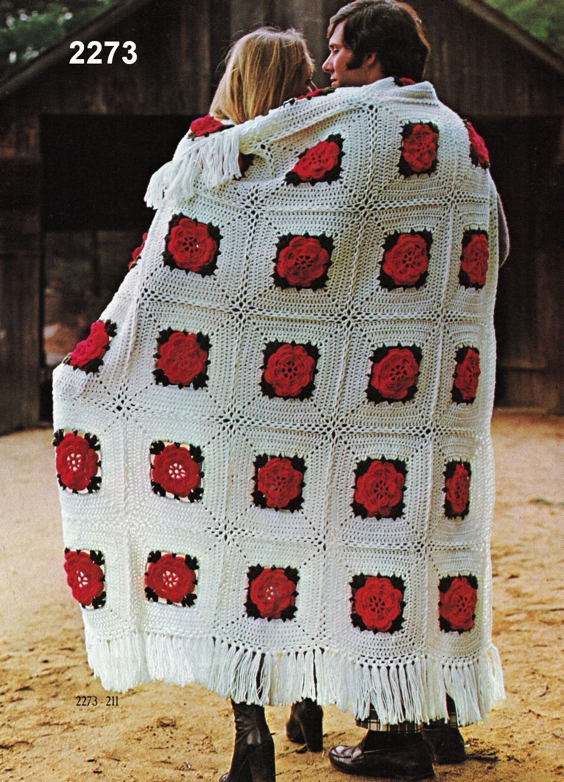 Primary image for Vtg 1974 Crochet Knit Embroidery Americana Afghans Sturbridge Village Patterns