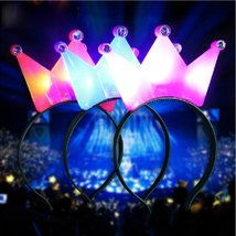 1PC Light Up Crown Headbrand Polka Dot Blinking LED Flashing For Birthda... - $12.21+