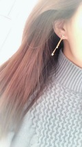 Authentic Christian Dior Sous Les Etoiles Earrings Gold Crystal Dangle Drop image 10