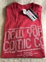 NYCC Nerd Block Red New York Comic Con 2016 Exclusive T-Shirt Large New! - $17.63