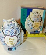 FEED THE KITTY Fitz & Floyd Piggy Bank Cash Critters with Box. Free Ship... - $29.70