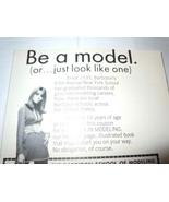 Vintage Be A Model Barbizon School of Modeling Print Magazine Advertisem... - $3.99
