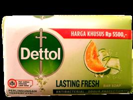 3 Bars Dettol 100grams Lasting Fresh Honeydew & Cucumber Soap - $11.40