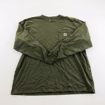 Carhartt Pocket T-Shirt Men's XL Green Original Fit Long Sleeve Extra Large - $34.65