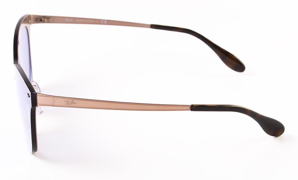 ... Ray Ban Blaze Cat Eye Sunglasses RB3580N 90391U Bronze Copper Violet  Mirror 43mm ... b24490bb0e
