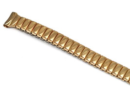 Speidel 9mm Extra Long Gold Thin Stainless Steel Expansion Watch Band Strap - $19.79