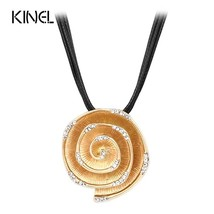Crystal Rose Necklaces For Women New 2016 Manual Make Big Chunky Necklac... - $8.41